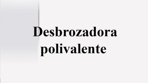 Desbrozadora polivalente
