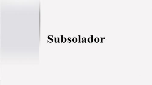Subsolador